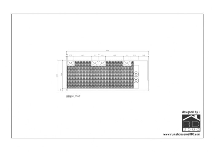 Gambar desain rumah kost mungil gratis denah atap
