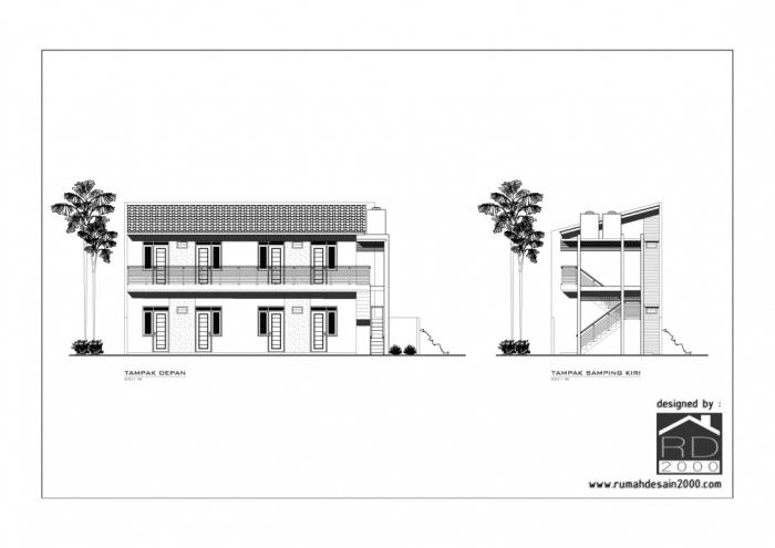 Gambar desain rumah kost mungil gratis t&ak depan