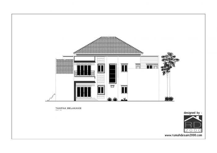gambar desain rumah mewah tampak belakang