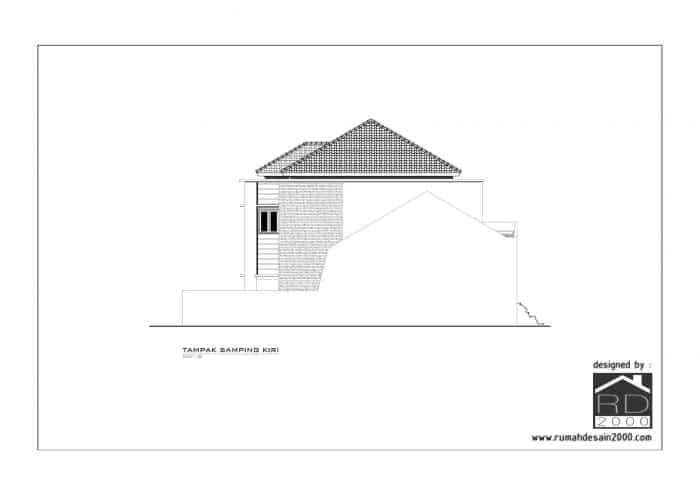 gambar desain rumah mewah tampak kiri