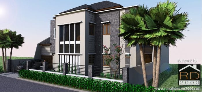 gambar model desain rumah mewah Perspektif 2