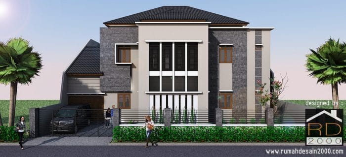 Gambar Model Desain Rumah Mewah Tampak Depan