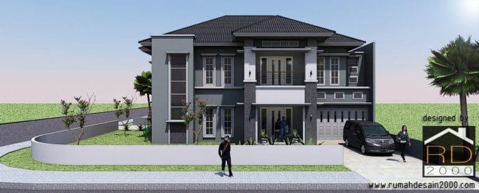 gambar gambar desain rumah mewah tampak depan