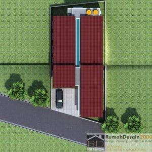 desain rumah kost minimalis modern 2 lantai berlokasi di