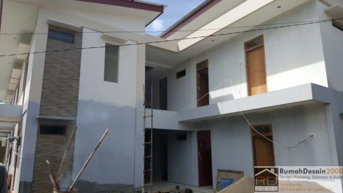 gambar Progress pekerjaan rumah kost 2 lantai