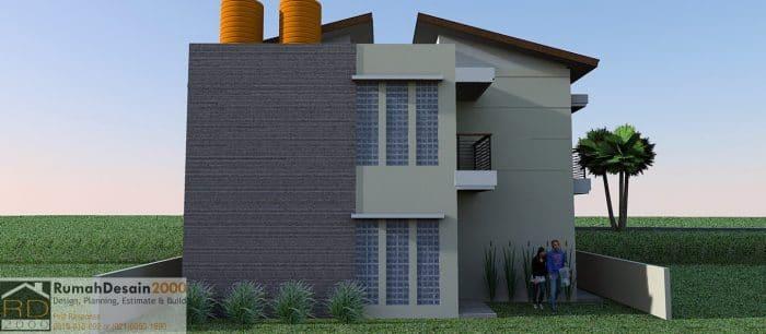 gambar Tampak Belakang Desain Rumah kost minimalis modern