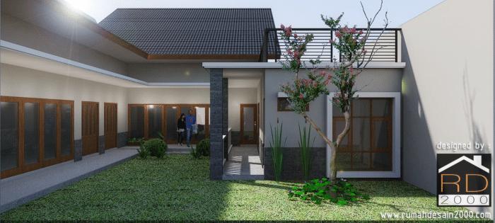 gambar tampak belakang rumah mewah minimalis cinere