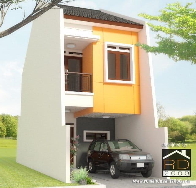 Gambar Perspektif Tampak Rumah Model Minimalis