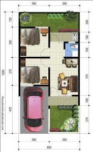 6 Denah Rumah Minimalis Pada Lahan 6 X 12 Rumah Desain 2000