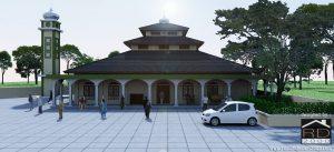 Tampak-depan-desain-masjid--300x137 Bangunan Project Lists Rumah ibadah   - Jasa desain rumah - Rumah Desain 2000