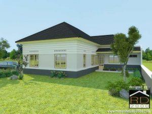 Desain-rumah-belanda-modern-perspektif-2-300x225 Desain Rumah Project & Rumah gaya kolonial belanda di Balikpapan - Rumah Desain 2000