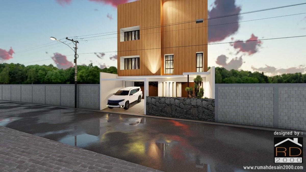 Desain Rumah Sekaligus Kantor Di Jakarta Timur